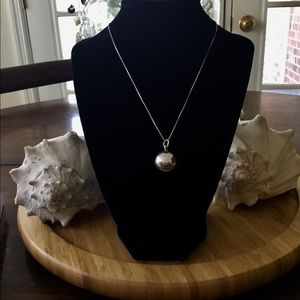 """Vintage Sterling Silver Harmony Ball Necklace 25"""""""